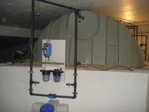 sistema de desinfecção de água com cloro