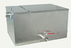 câmara de separação de gorduras em aço inox