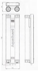 Ultrafiltration LineGuard UF-100 dimensions