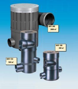 Filtros de água pluvial com capacidade até 3000 m2