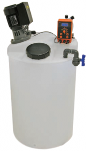depósitos doseadores de produtos químicos em sistemas de tratamento de águas